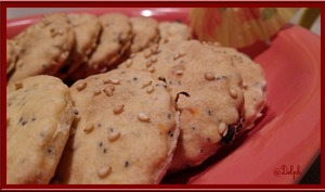 Crackers aux graines de Sésame et tomates séchées