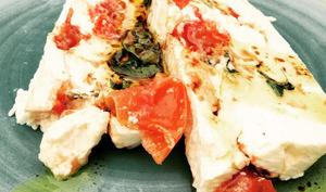Pressé de caillé de chèvre aux tomates confites