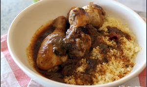 Tajine express de poulet à la ratatouille spéciale volaille miel et raisins