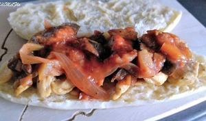 Sandwich poulet à la ratatouille
