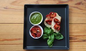 Pesto et tomates confites