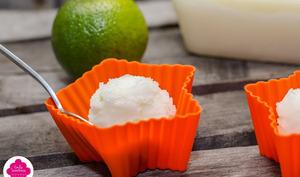 Sorbet Mojito au citron, citron vert, menthe et Rhum