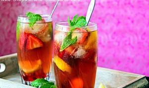 Thé Glacé aux fraises