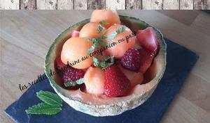Salade de fruits d'été au rhum