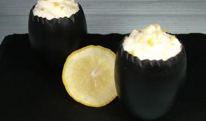 Mousse citron perles de yuzu limoncello façon Lemon syllabub