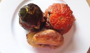 Tomates courgettes pommes de terre farcies
