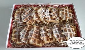 Gaufre liégeoise moelleuse et son sucre croustillant