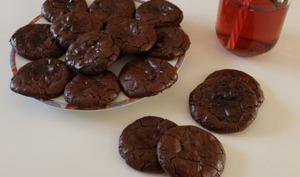 Cookies craquelés aux trois chocolats