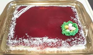 Bavarois fraises kiwis et son croustillant