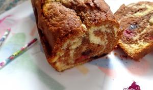 Cake marbré Framboises Myrtilles