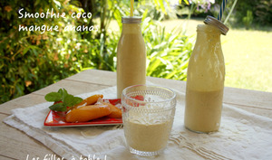 Smoothie coco mangue ananas