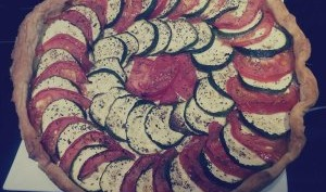 Tarte courgettes et tomates sauce Philadelphia