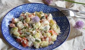 Salade piémontaise côté mer au poisson