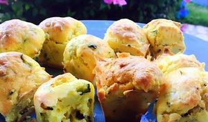 Mini cake express aux courgettes, feta et citron
