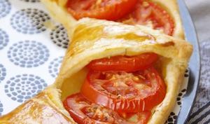 Tarte soleil tomates et moutarde aux noix