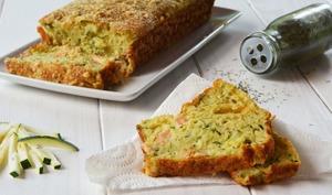 Cake courgette et saumon fumé