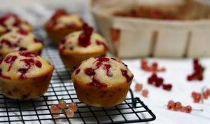 Muffins aux groseilles et amandes