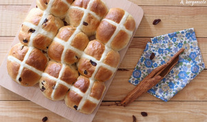 Hot cross bun de Pâques