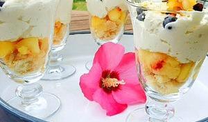 Verrines express nectarines myrtilles