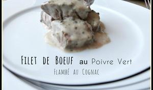 Filet de bœuf au poivre vert, flambé au Cognac