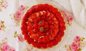 Tarte fraise chocolat blanc