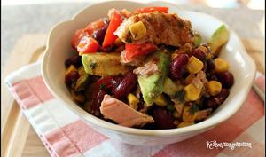 Salade façon mexicaine au thon et à l'avocat