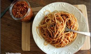 Pâtes sauce bolognèse végétalienne