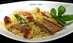 Bavettine au pesto Trapanese et anchois frais