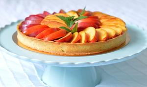 Tarte à la crème d'amande et nectarines