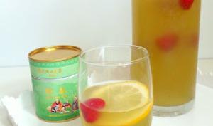 Thé matcha glacé miel et citron