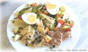 Salade terre mer et ses graines