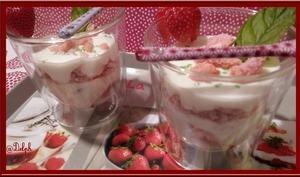 Verrines de Fromage blanc aux fraises