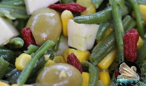 Salade d'haricots verts aux baies de goji