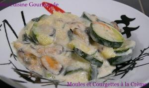 Moules et Courgettes à la Crème