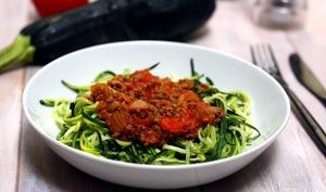Spaghetti de courgettes façon bolognaise