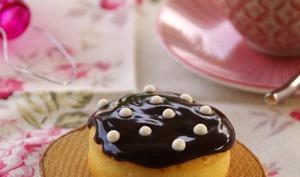 Minis cakes au citron et framboise ganache chocolat