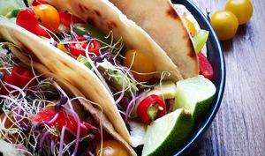 Tacos végétariens, et tortillas 100% fait maison