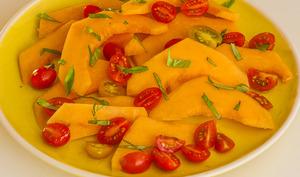 Salade de melon et tomates cerises
