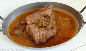 Rôti de porc à la cocotte aux épices Terre de Feu Pomme d'Ambre