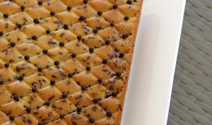 Gâteau pistache et chocolat au mascarpone