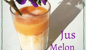 Jus Melon - Citron Vert et Lait d'amandes avec ou sans thermomix