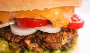 Burger Tex-Mex aux haricots Azuki