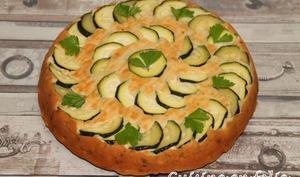 Gâteau renversé au yaourt et courgettes grillées