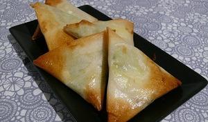 Samossas courgette bacon et mozza