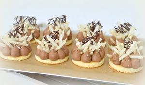 Mini entremets poire chocolat