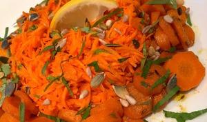 Duo de carottes au cumin et au citron