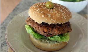 Burger végétalien aux haricots rouges