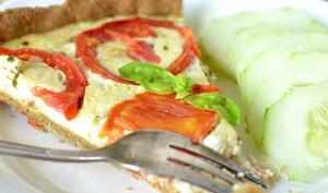 Tarte au thon et à la tomate, avec sa pâte au petit épeautre et aux herbes de Provence