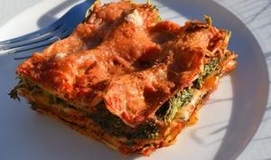 Lasagne épinard, tomate, ricotta
