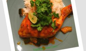 Cuisses de poulet tandoori express aux courgettes